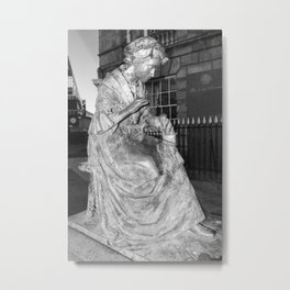 The Leicester Seemstress Black And White Metal Print