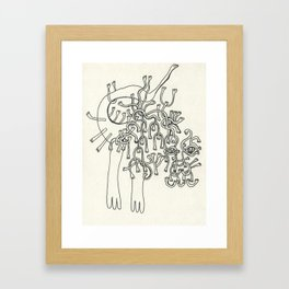 All Hands Framed Art Print
