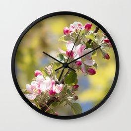 Apple Blossom Wall Clock