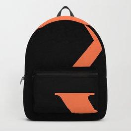X MONOGRAM (CORAL & BLACK) Backpack