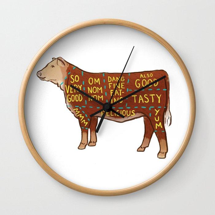 Cow Cuts Wall Clock