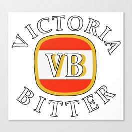 victoria bitter white Canvas Print