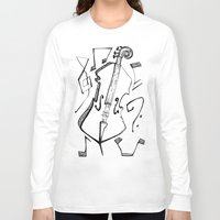 cello Long Sleeve T-shirts featuring Dancing Cello by Ashley Grebe