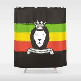 Rasta Lion Shower Curtain