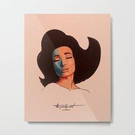 Pinkprint Illustration Metal Print