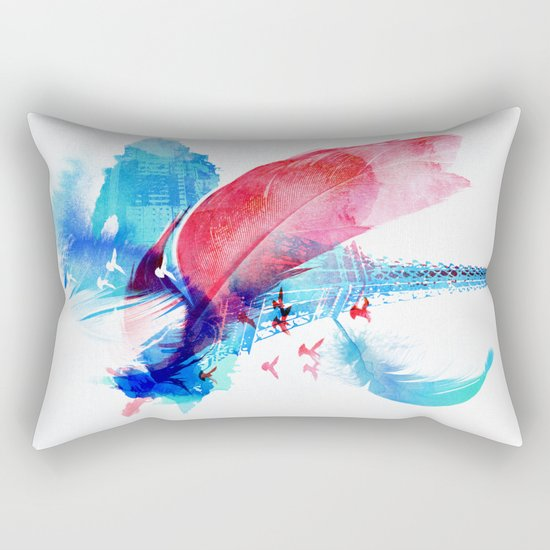 Pigeons of Paris Rectangular Pillow