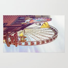 The Crab Pot and Seattle Great Wheel Rug