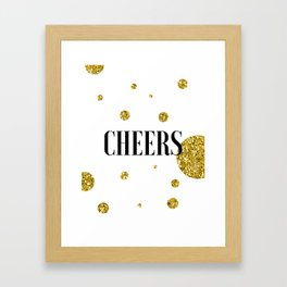 Champagne Quotes Cheers POP FIZZ CLINK Sign Printable Art Foil Print Gold Foil Alcohol Quote Framed Art Print