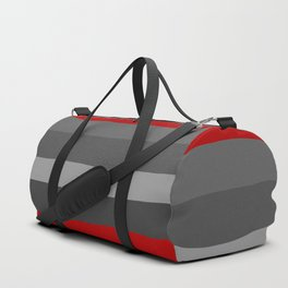 Abstract Grey Lines Duffle Bag