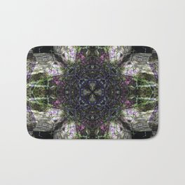 """""""Looking Glass"""" reflection of hole in tree stump Bath Mat"""
