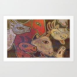 Dear Beasts on the Wall Art Print
