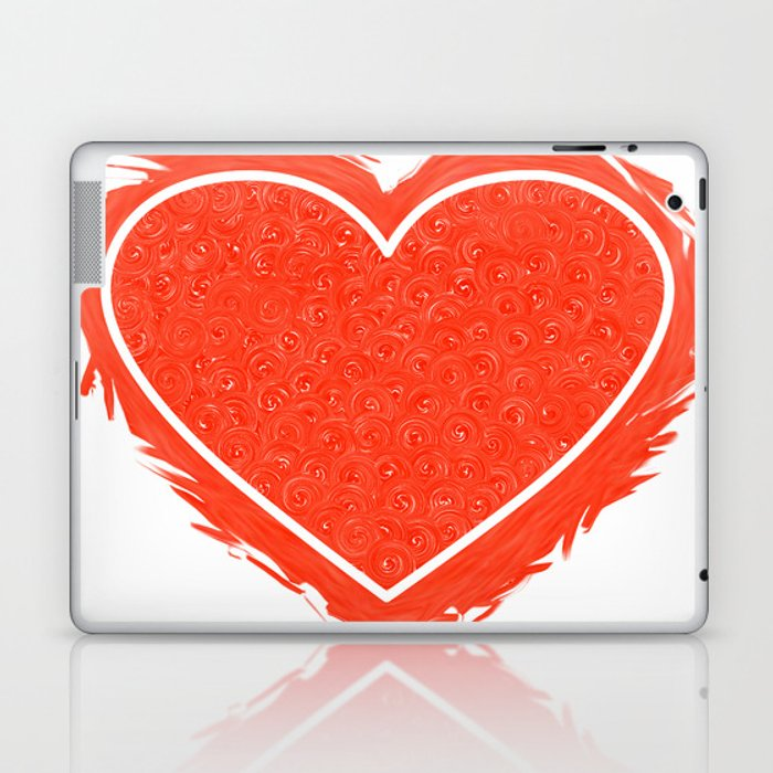 Red Heart Laptop & iPad Skin