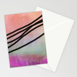 Pink Abstract with Lines - Pastel Stationery Cards