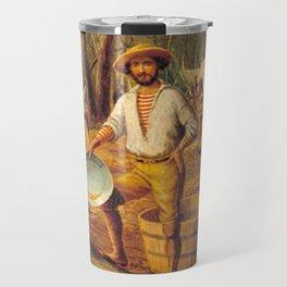 Ballarat by Eu von Guerard Date 1854  Romanticism  selfportrait Travel Mug