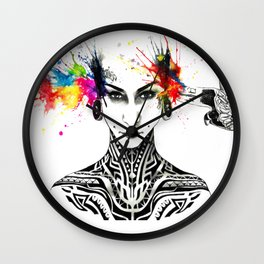 Tattooed forever Wall Clock