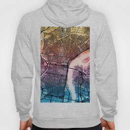 Philadelphia Pennsylvania Street Map Hoody