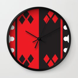 Harleys Heart Pattern Adult Cloth  Wall Clock