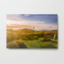 Sunset over Madeira Metal Print