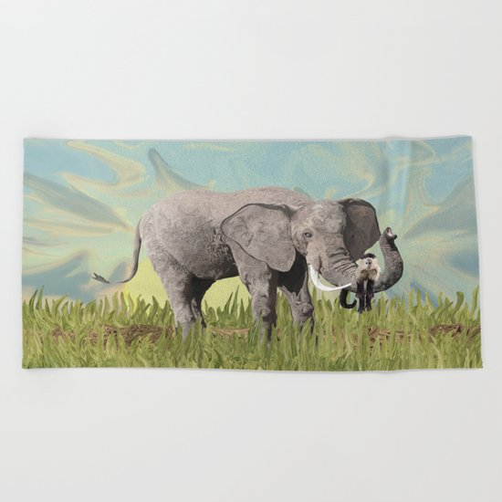 Monkeying Around the Trunk Beach Towel