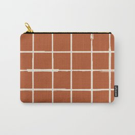 Rustic Checkered Lines Carry-All Pouch
