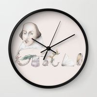 shakespeare Wall Clocks featuring William Shakespeare by RiversAreDeep