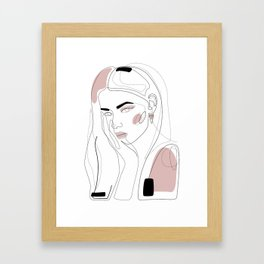 In Blush Framed Art Print