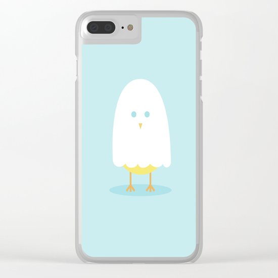 Halloween chick in ghost costume Clear iPhone Case