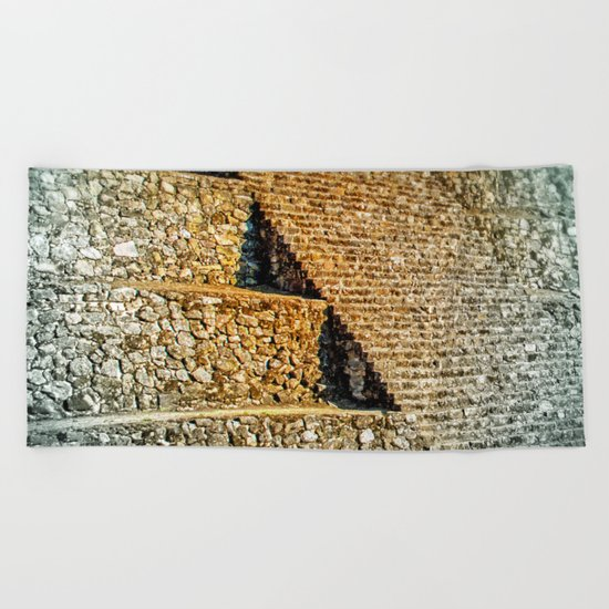 PATTERNS OF HISTORY Beach Towel