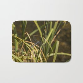Dragonfly in the marsh Bath Mat