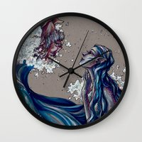 siren Wall Clocks featuring Siren by 1 of Many Laurens