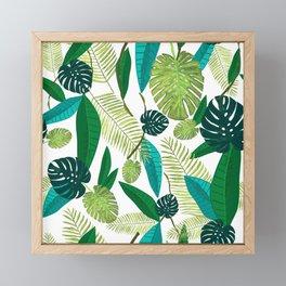 Tropical Green Leaves Framed Mini Art Print