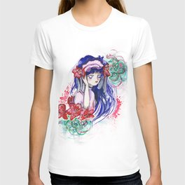 Sailor Mars Red Flower T-shirt