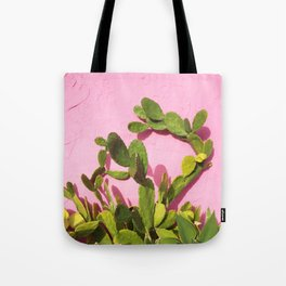 Pink Wall/Green Cactus  Tote Bag