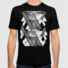 Trianglism Mens Fitted Tee X-LARGE Black