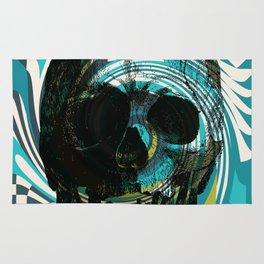 Pop Art Skull Retro 80's Rug