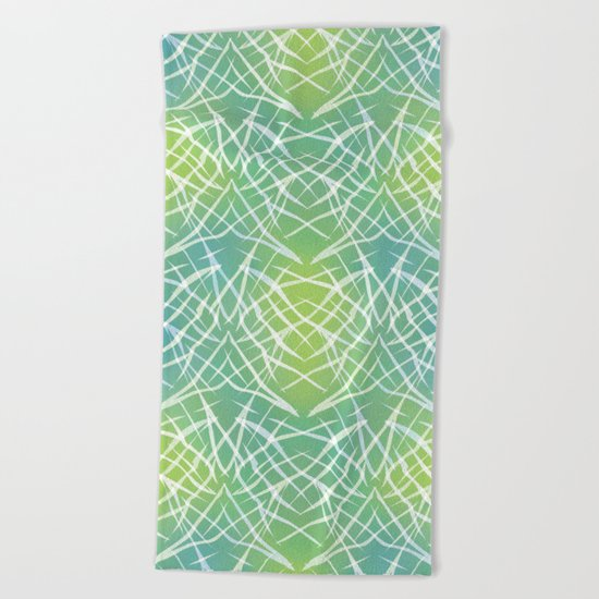 Abstract pattern .    Yellow blue . Beach Towel