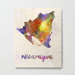 Nicaragua in watercolor Metal Print
