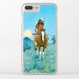 Frederic Remington - The Outlier, 1909 Clear iPhone Case