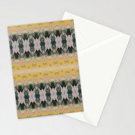 Yellow Green Ornamental Shibori Stationery Cards