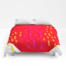 red fans Comforters