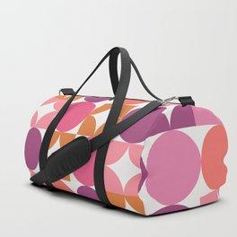 Mid Century Shimmering Sunset Duffle Bag