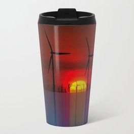Windmills at the Horizon Travel Mug