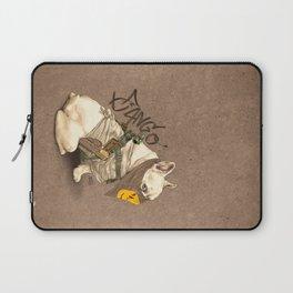 Doggy Vigilante // Django the French Bulldog Laptop Sleeve