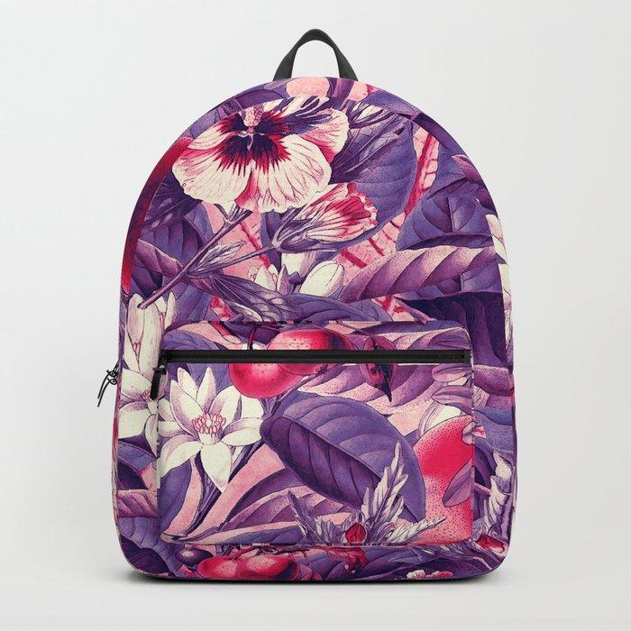 flowers 9 purple Backpack