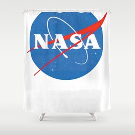 NASA logo I need my space Tees Graphic Tee Shower Curtain