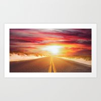 Open Road To Nowhere Art Print