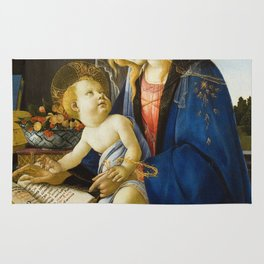 Botticelli  -  The Virgin And Child The Madonna Of The Book Rug
