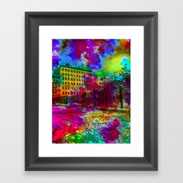 Tribeca Snow Framed Art Print