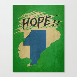 Hope!! (time machine ) Canvas Print