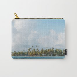 Palm trees and blue sky  - Tropical summer landscape Carry-All Pouch